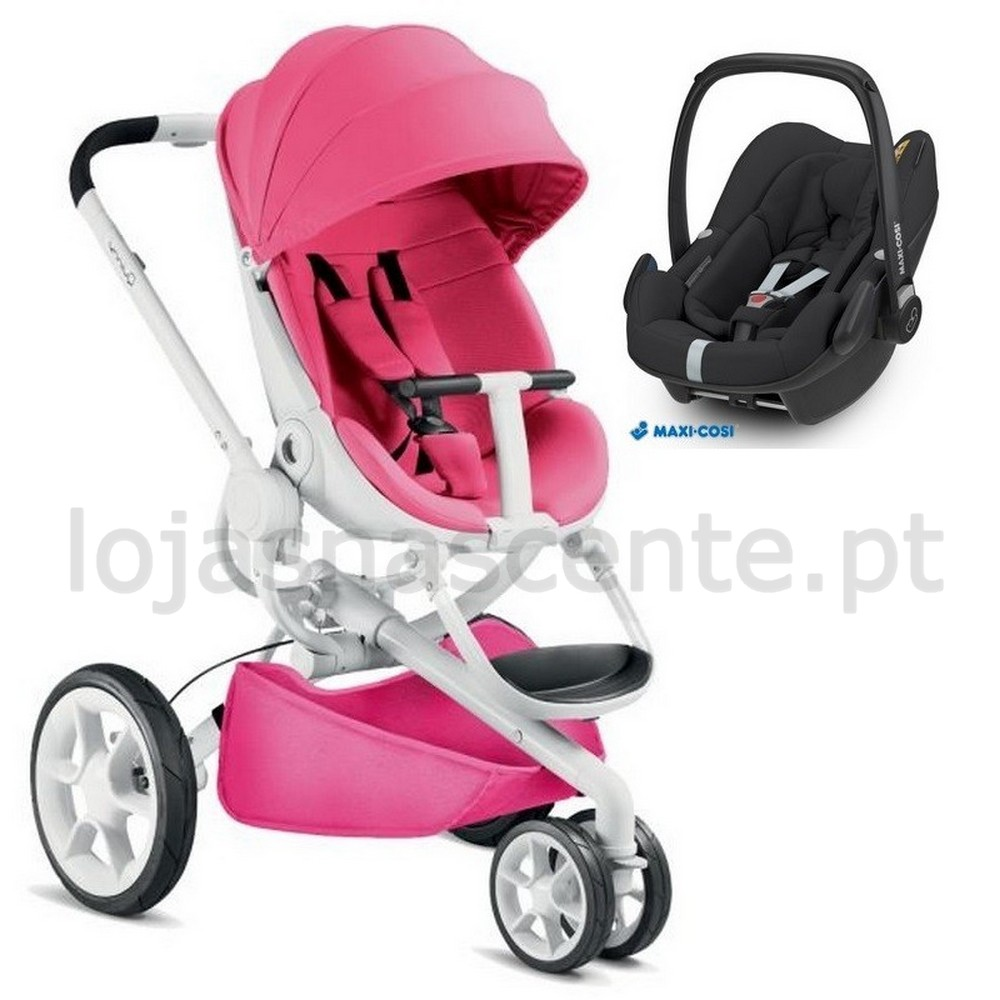 Puericultura Duo Carrinho Quinny Moodd Pink Passion